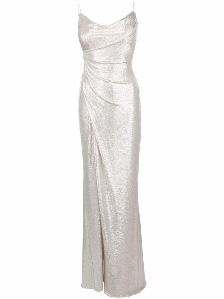 Foiled Jersey Long Dress Item # MN1E203846