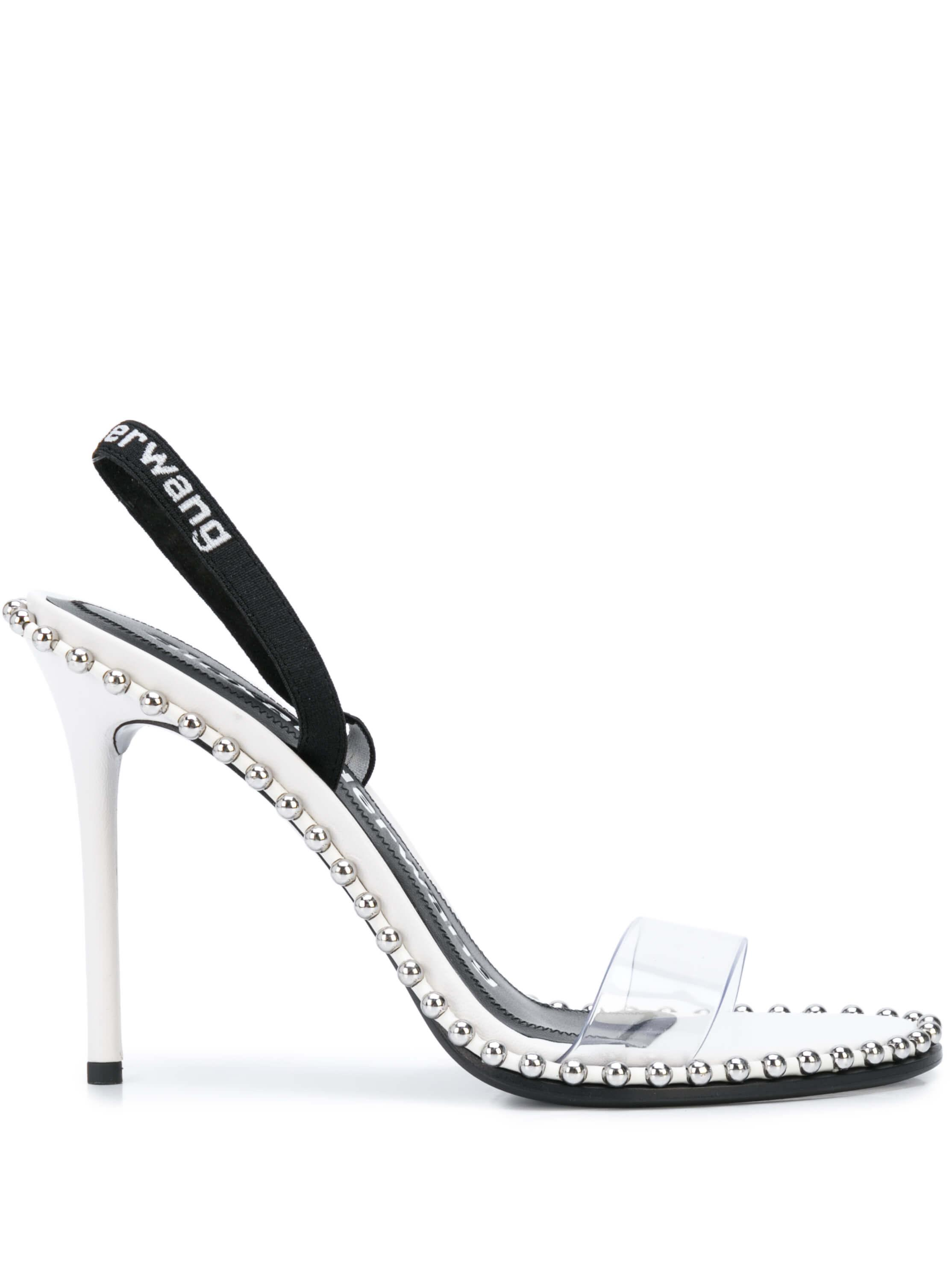 Nova Leather PVC Slingback With Logo