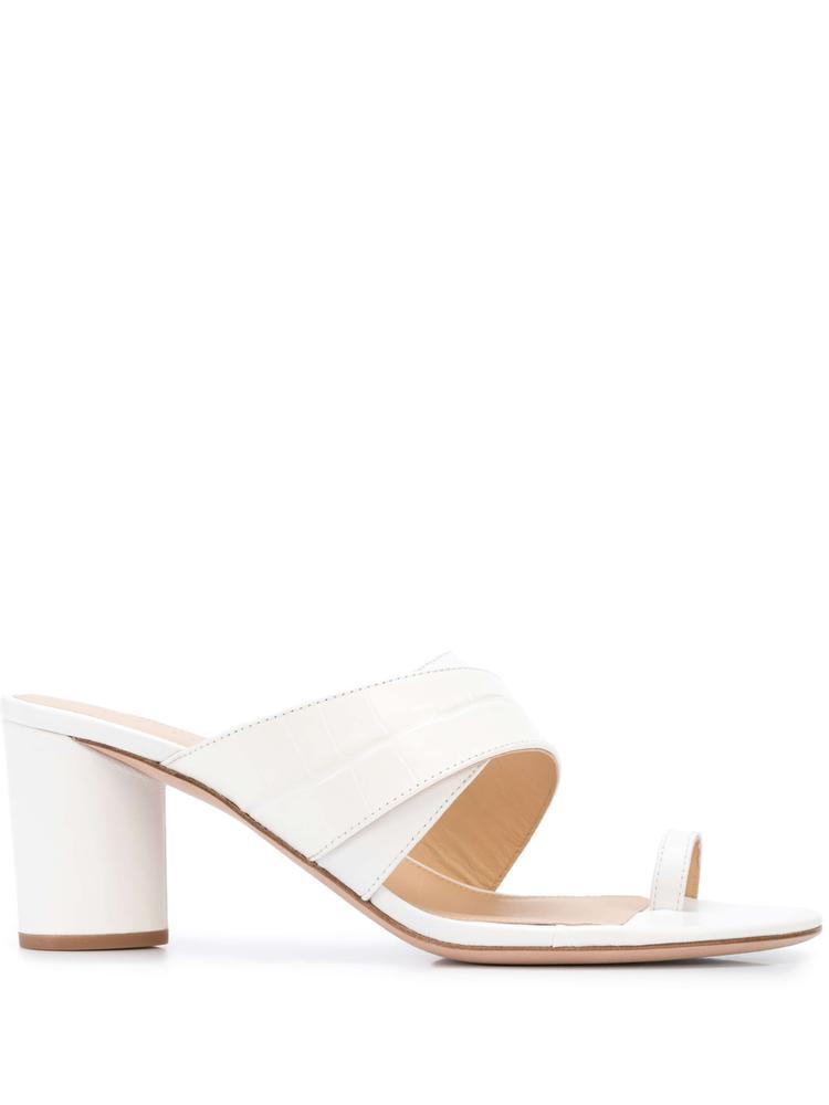 Zuri Croc Round Heel Sandal