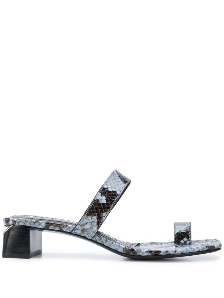 Ellis Snake Print Low Block Heel