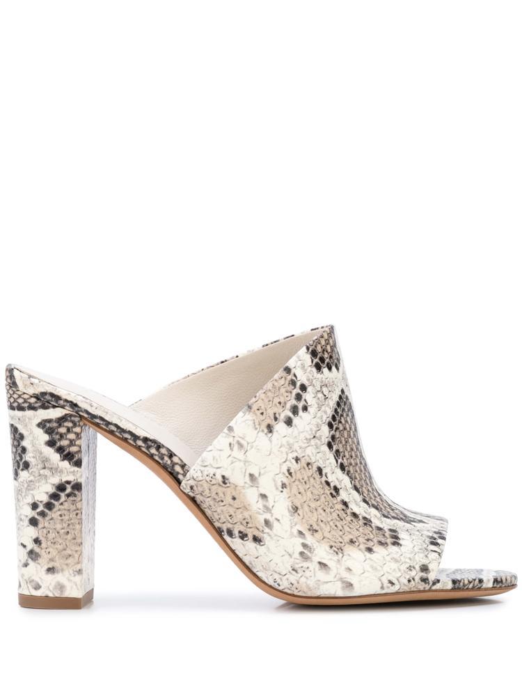 Hanna Snake Print Block High Heel Sandal
