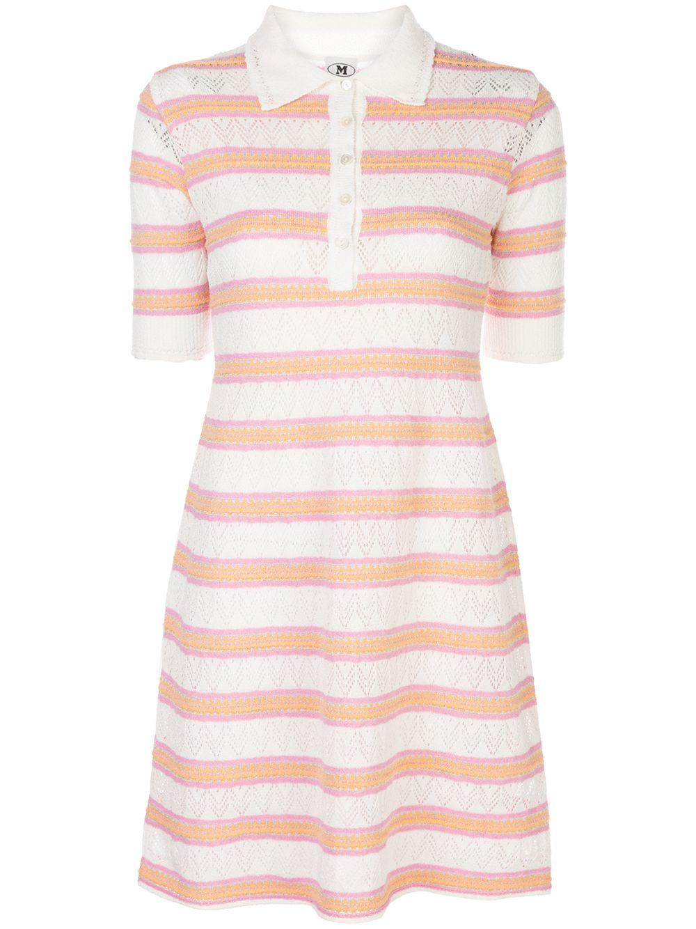 Short Sleeve Striped Polo Dress Item # 2DG00299-2K004B