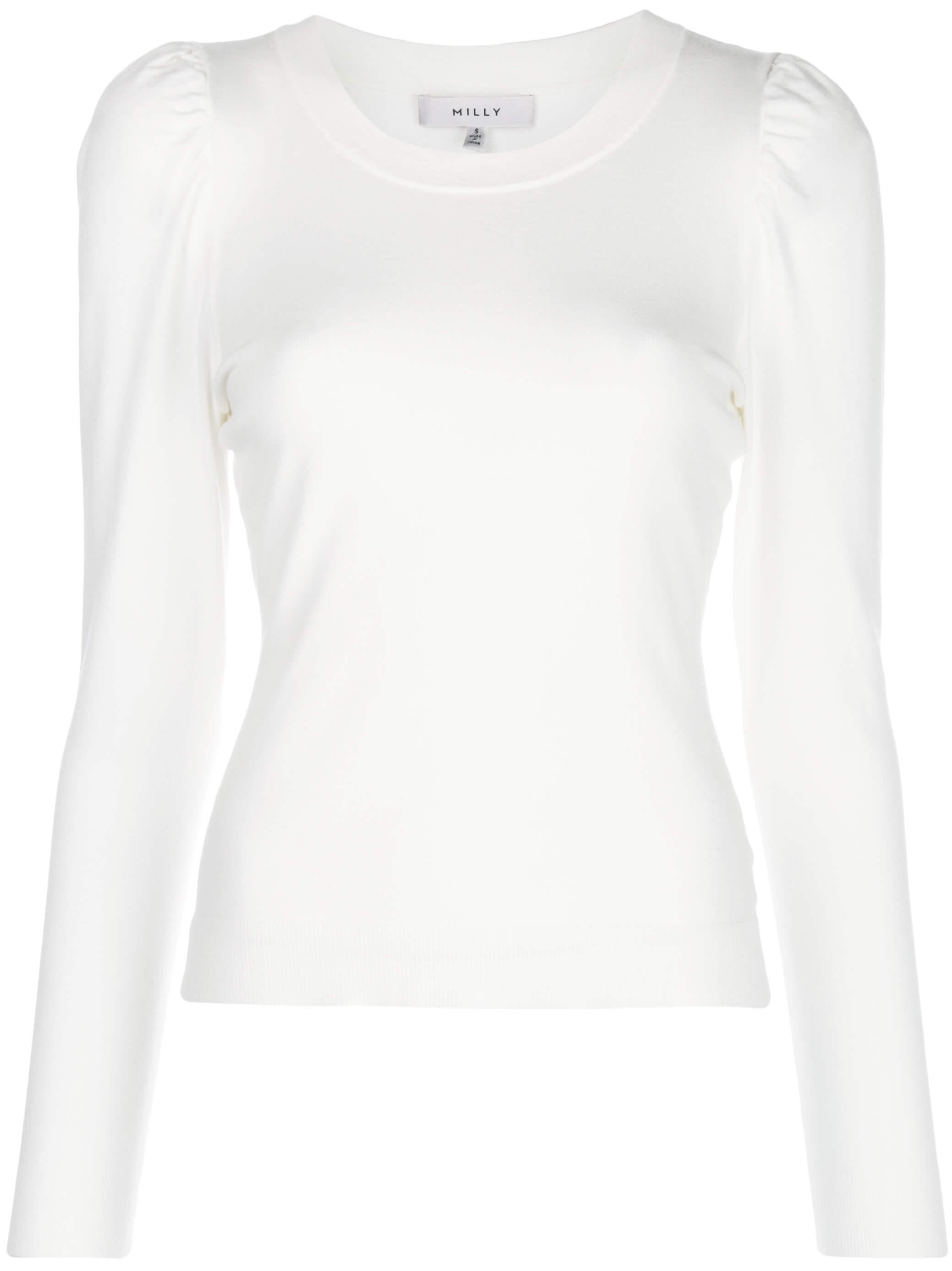 Puff Shoulder Long Sleeve Knit Pullover Item # KPT006