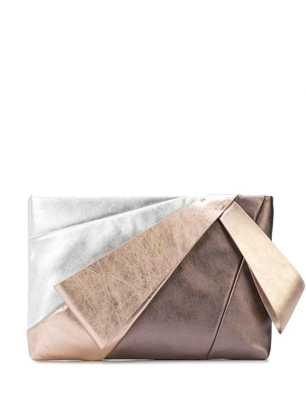Stevie Metallic Large Clutch