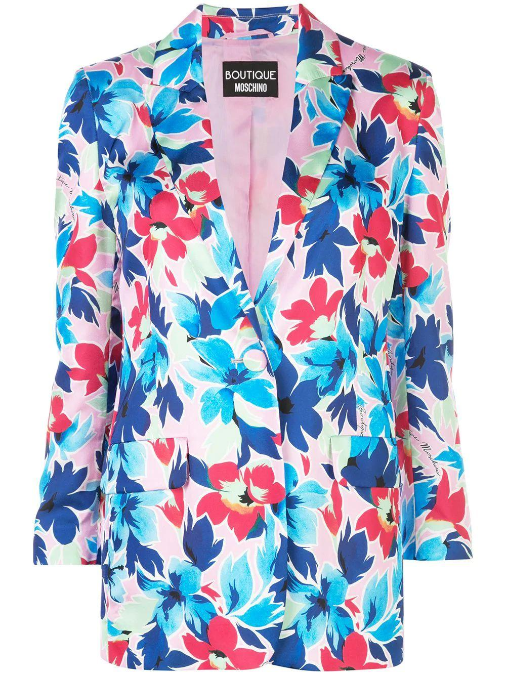 Floral Print Blazer Jacket