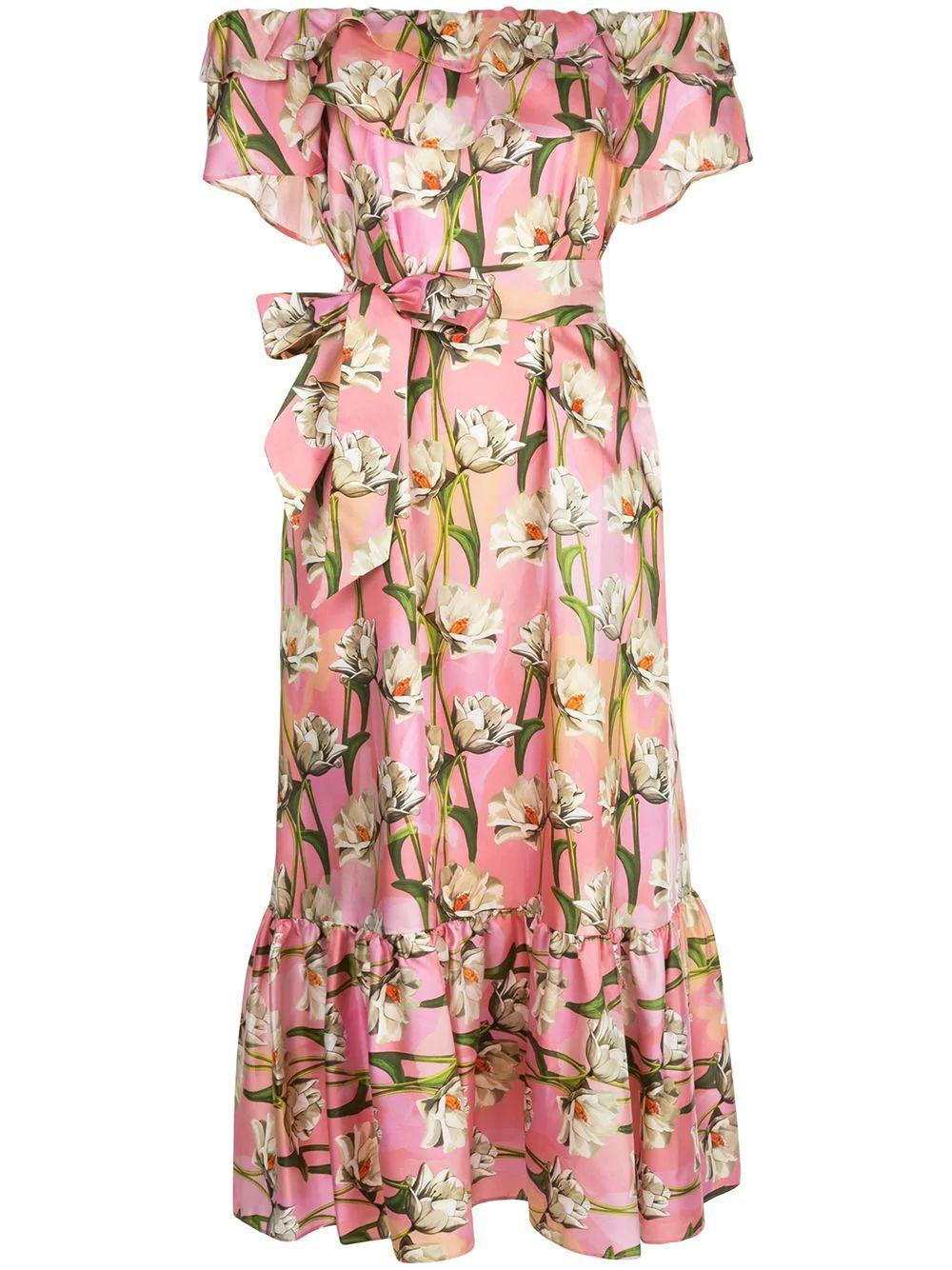 Off The Shoulder Magnolia Garden Long Dress