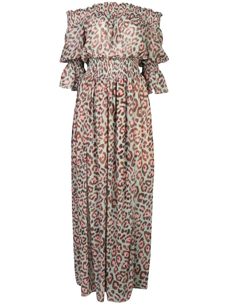 Leopard Print Maxi Dress Item # VES2262US