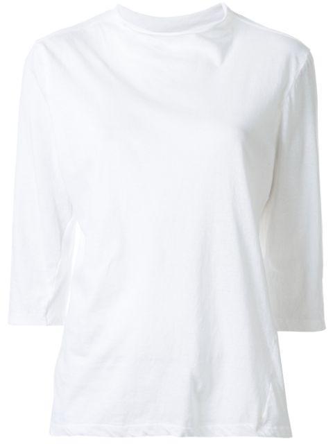 Raised Neck 3/4 Sleeve T- Shirt Item # PC20WJT93