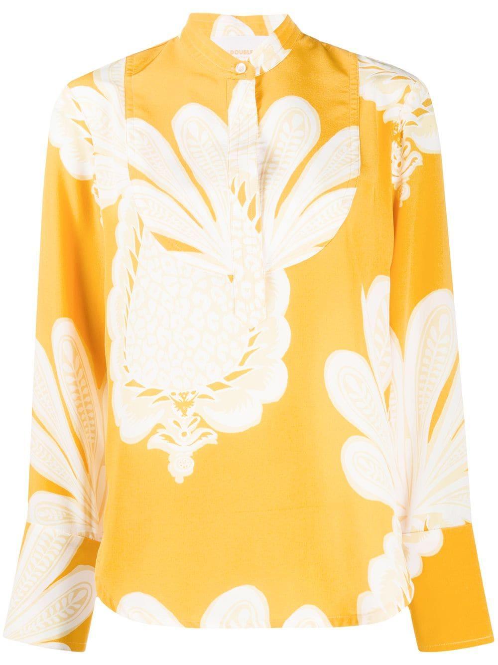 Portofino Printed Silk Shirt Item # SHI0046-CRE001