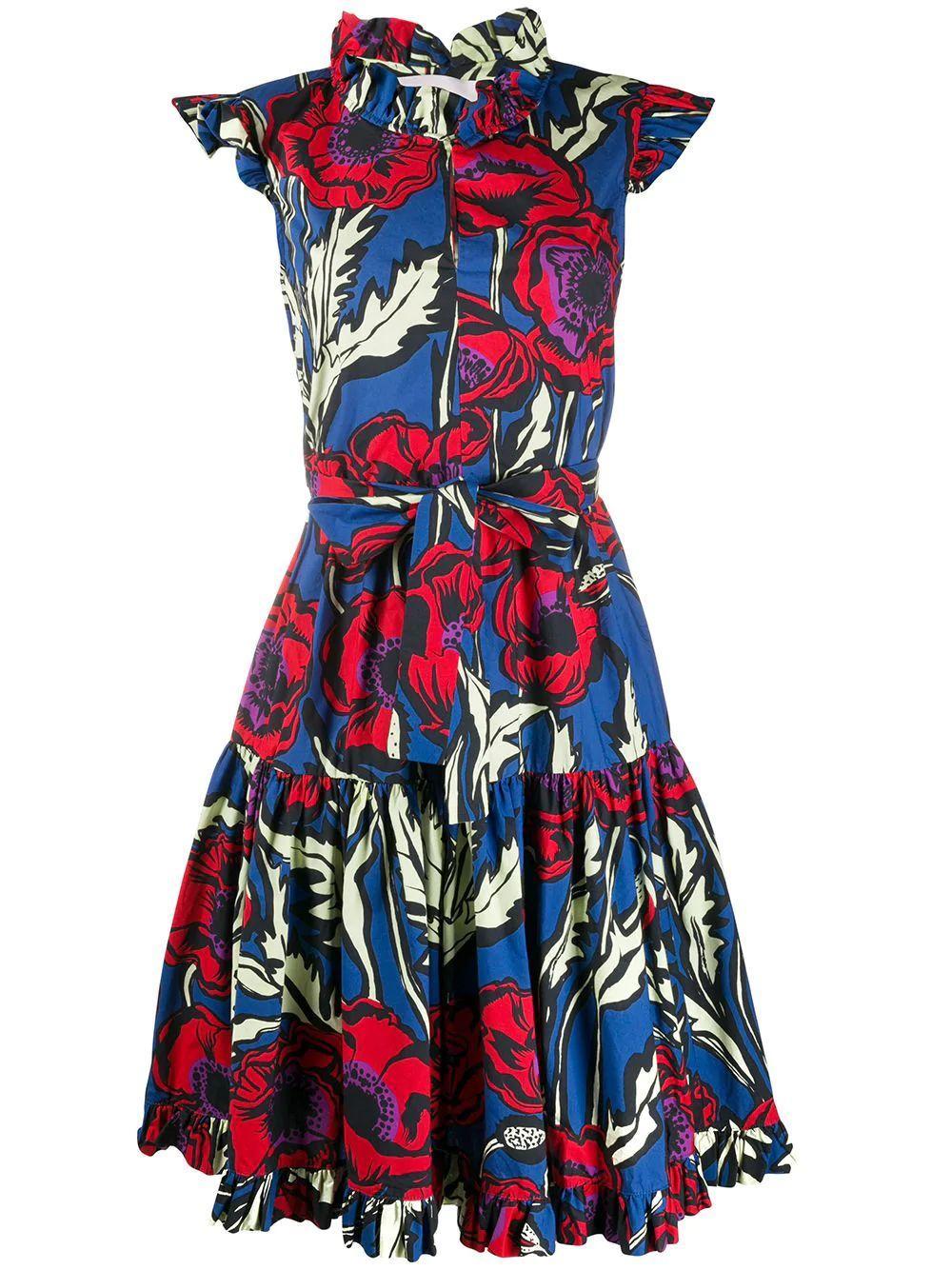 Short/Sassy Flutter Cap Sleeve Cotton Dress
