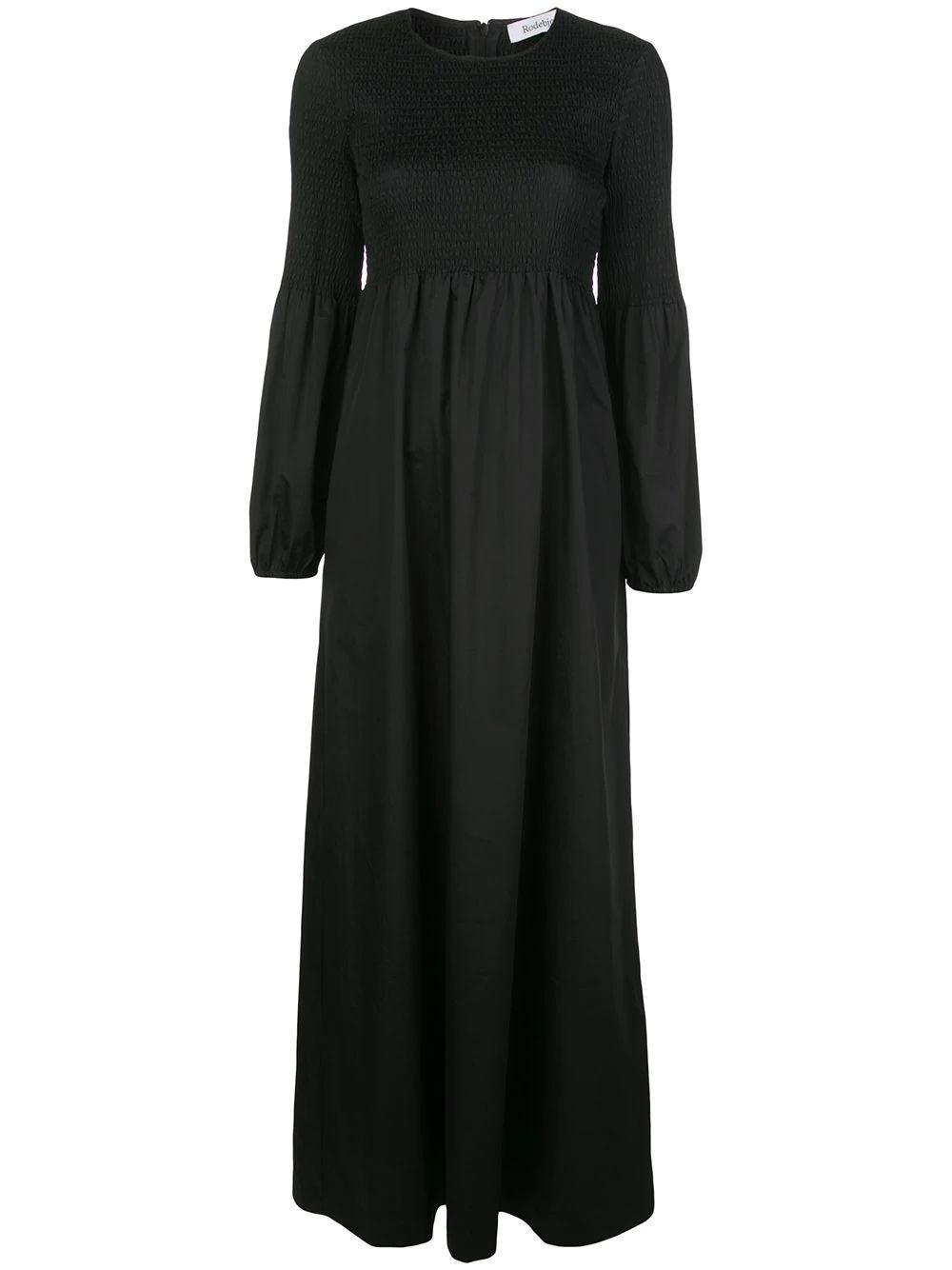 Sandy Crisp Smocked Maxi Dress