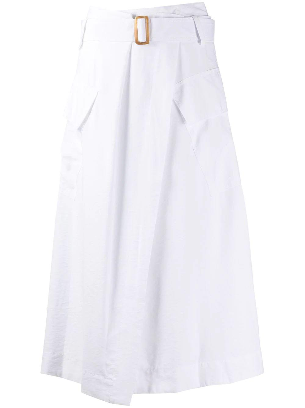 Utility Belted Midi Skirt