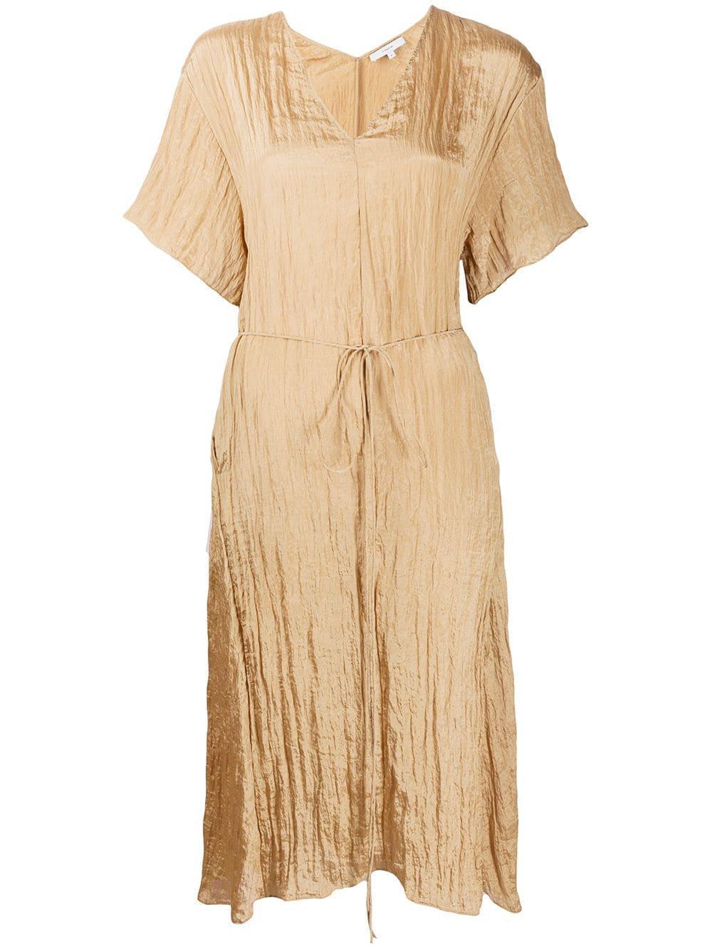 Textured V- Neck Dress Item # V650751115