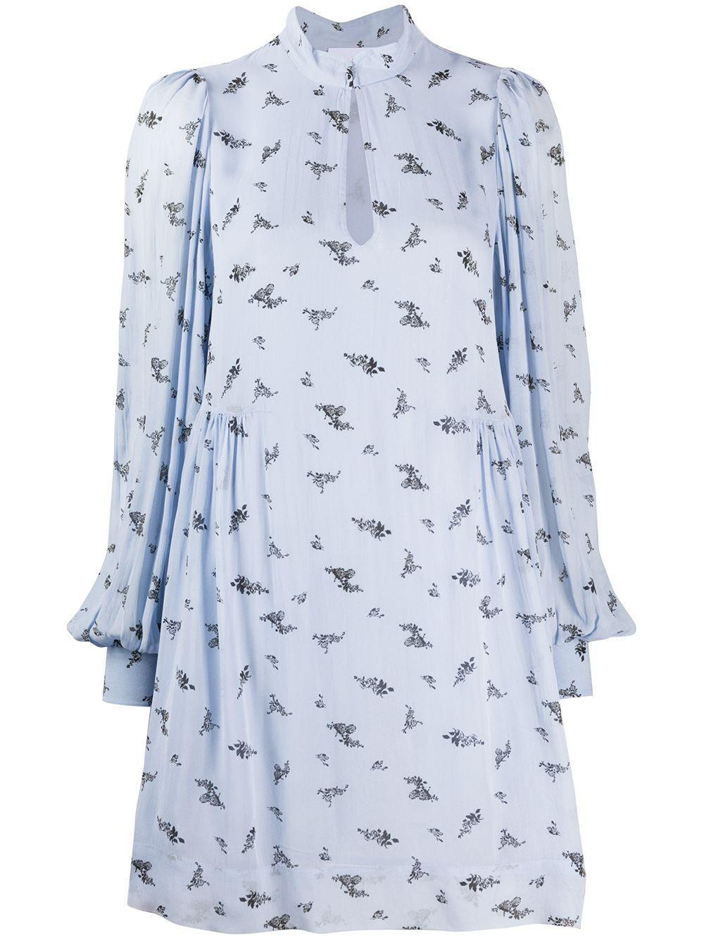 Printed Georgette Long Sleeve Dress Item # F4534