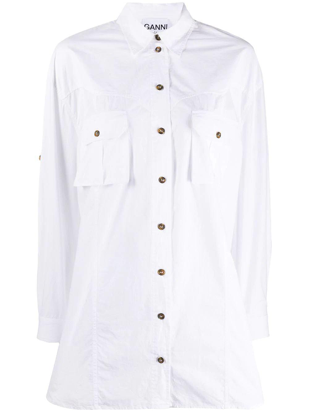 Oversized Cotton Poplin Buttondown Item # F4760