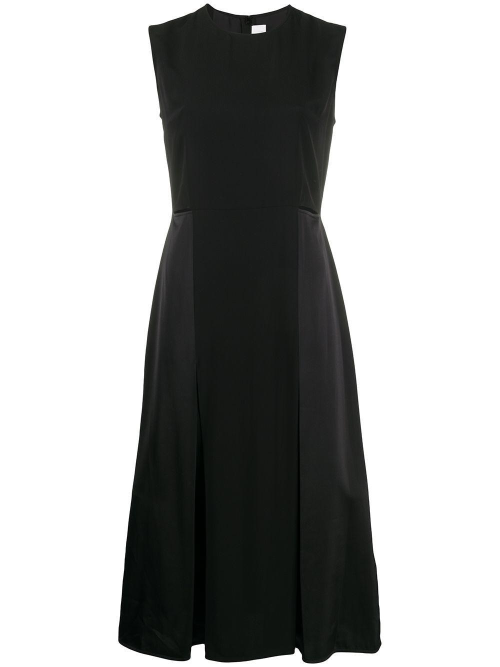 Sleeveless Crepe Satin Slit Detail Dress Item # 2220WDR001021B