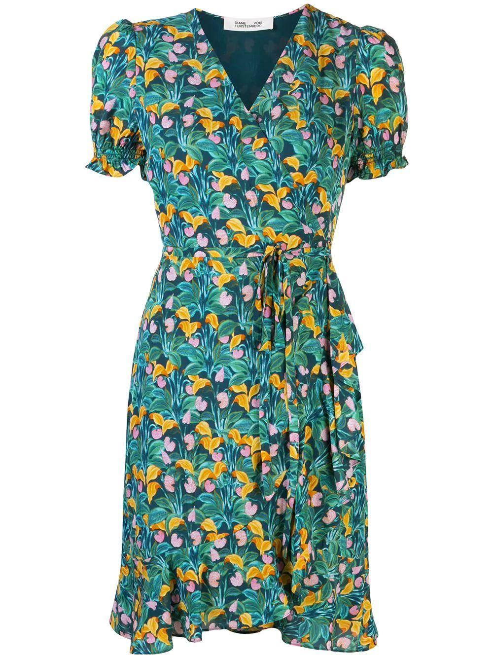 Emilia Short Sleeve Floral Dress