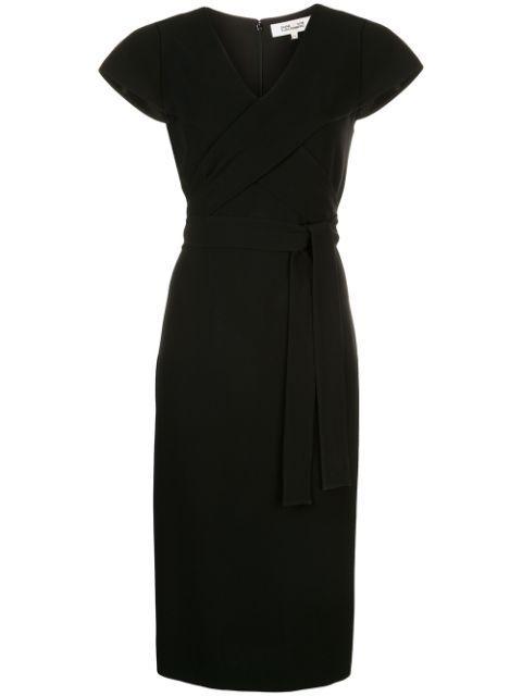 Kace Wrap Midi Dress Item # 14258DVF