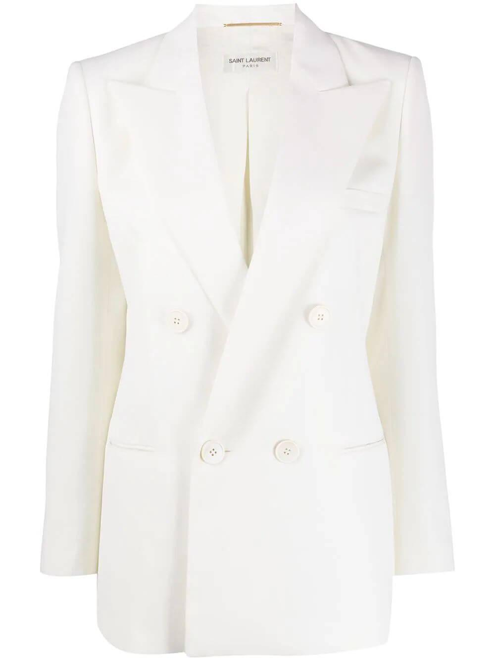 Double Breasted 4 Button Notch Collar Blazer