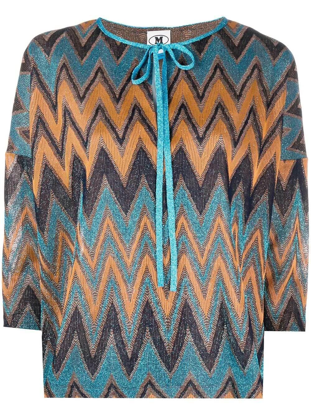 Camicia Zig Zag Lurex Blouse Item # 2DJ00098-2J002L