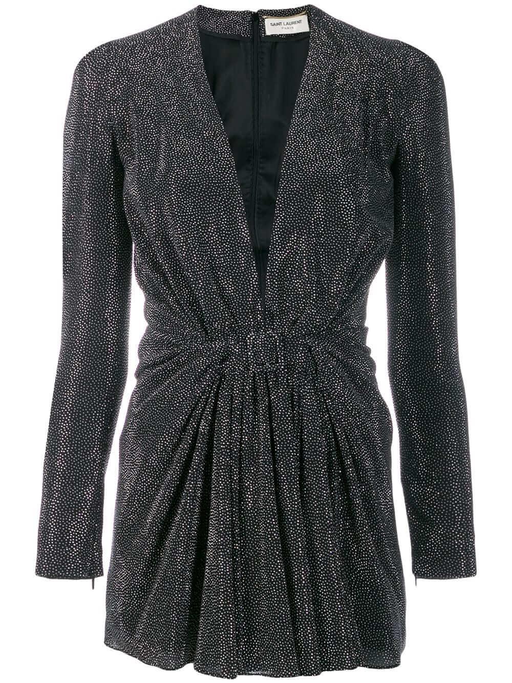 V- Neck Short Dress With Crystals Item # 601143Y4A01