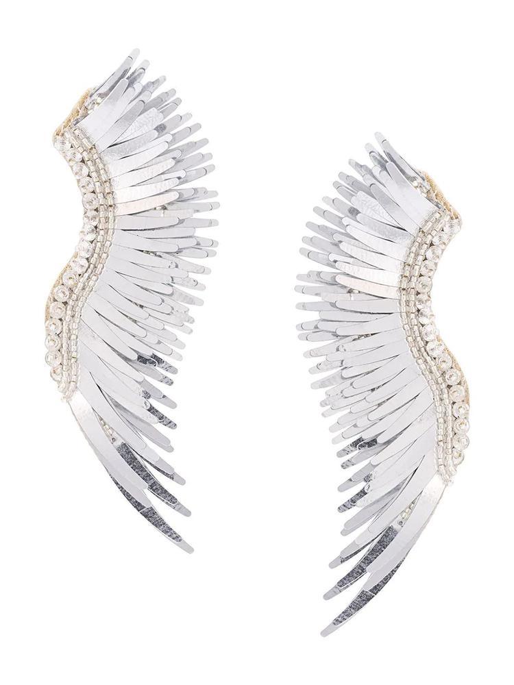 Madeline Oversize Metallic Silver Item # E19-050