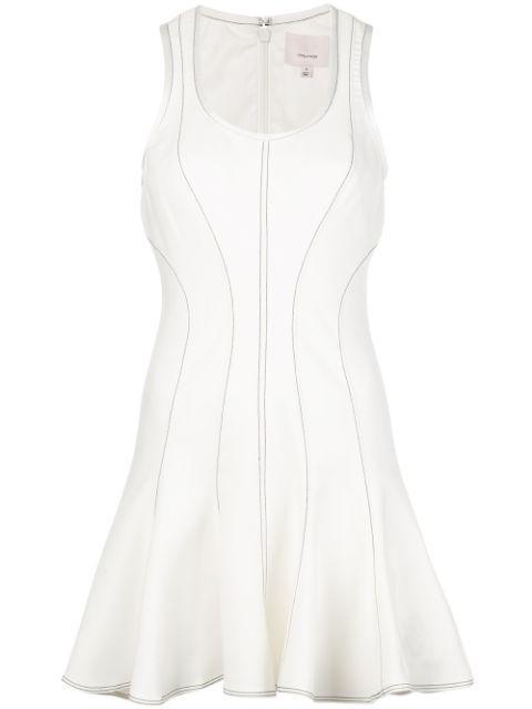 Julie Fit And Flare Topstitch Dress Item # ZD10431062Z
