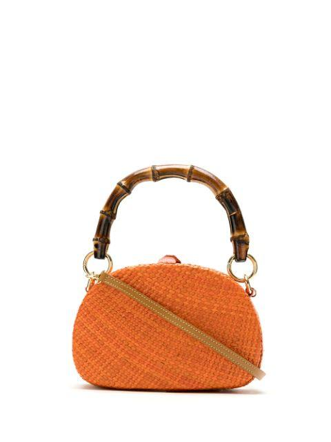 Anne Straw Bag With Bamboo Handle Item # 9505