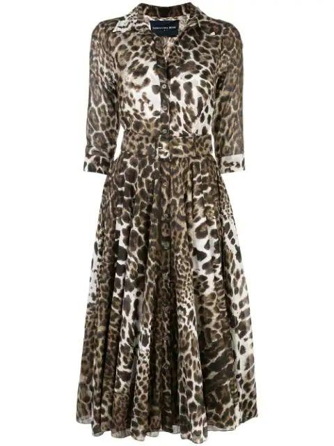 Colombo Leopard 3/4 Sleeve Musola Dress Item # ASTER-MUS-LEO