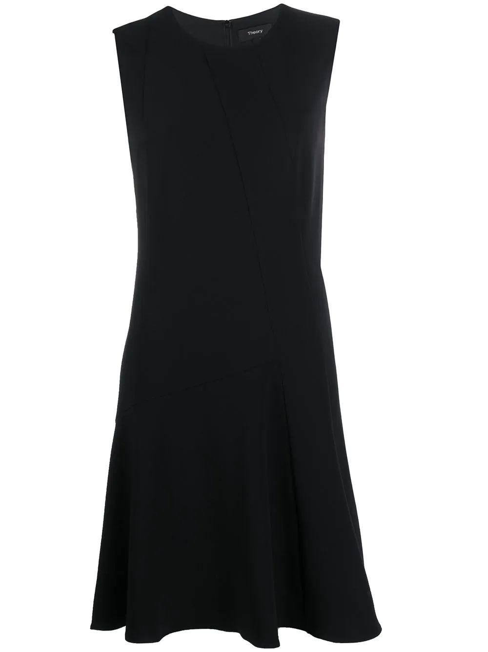 Asymmetrical Drape Dress Item # K0109607