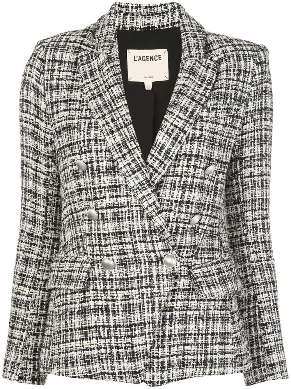 Kenzie Plaid Double Breasted Blazer