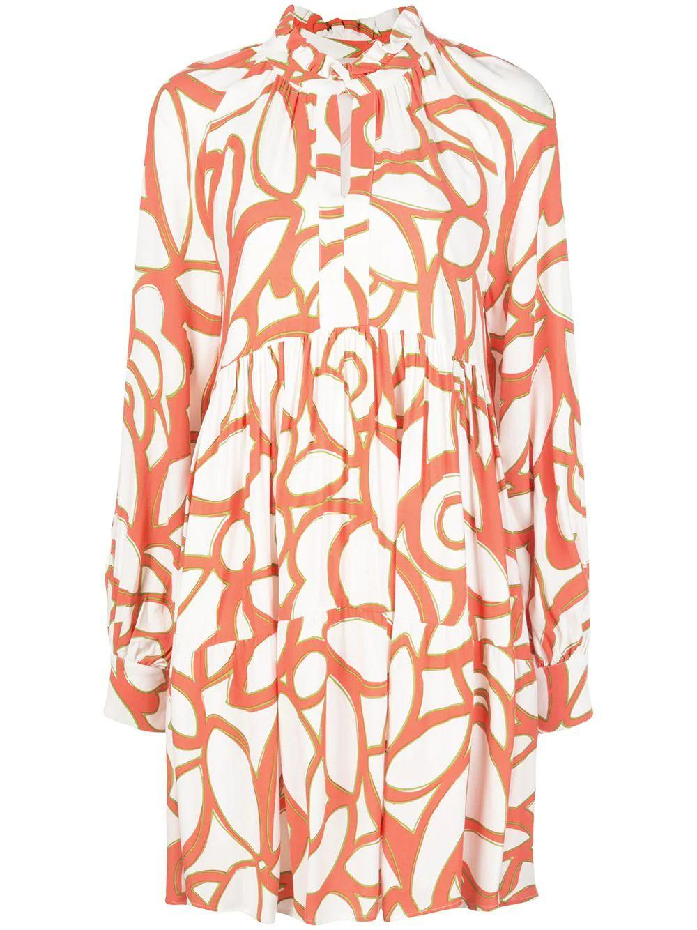 Jasmine Abstract Print Dress