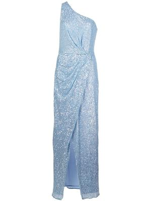 Aurora Crystal Sequin One Shoulder Gown