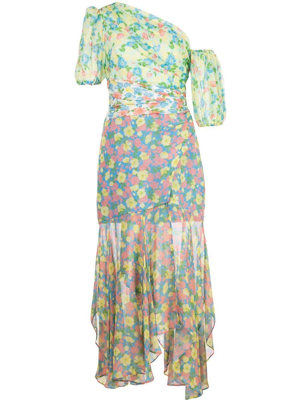 Jaylah One Shoulder Midi Dress Item # 5812376
