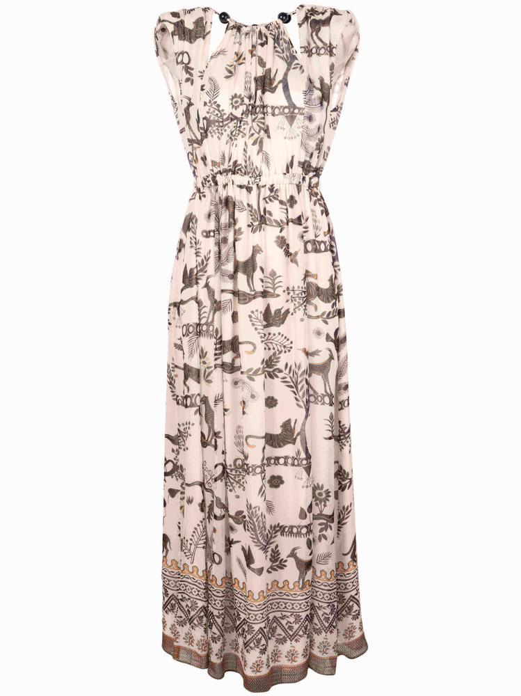 Sinead Jungle Border Print Dress Item # 10381