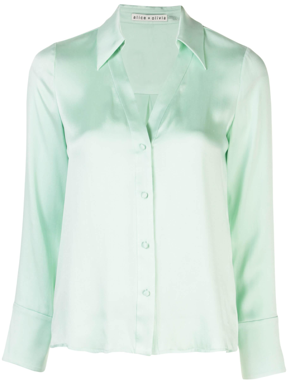 Hope Silk Button Down Cuff Blouse Item # CC002057016