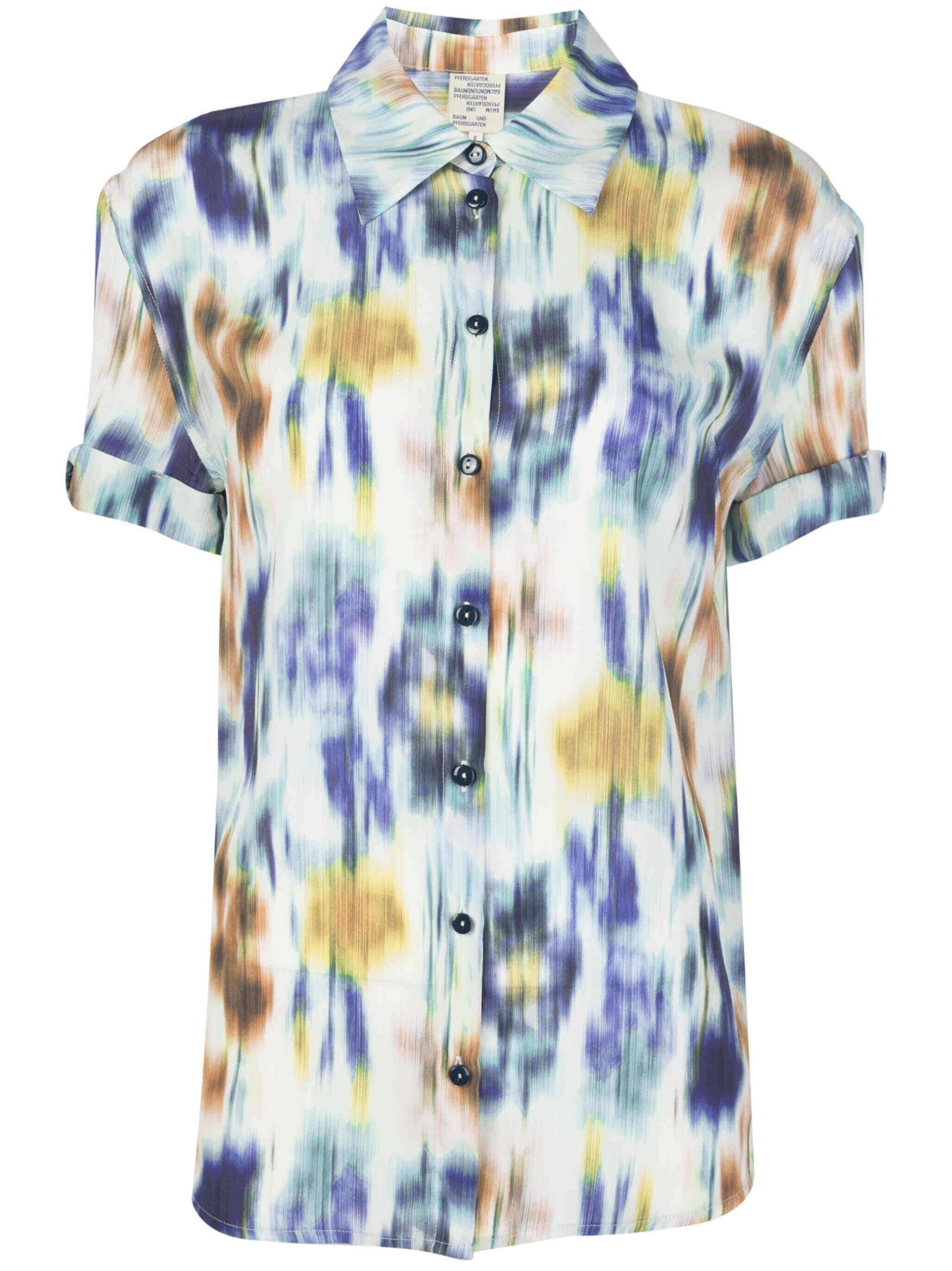 Moanna Floral Print Short Sleeve Top