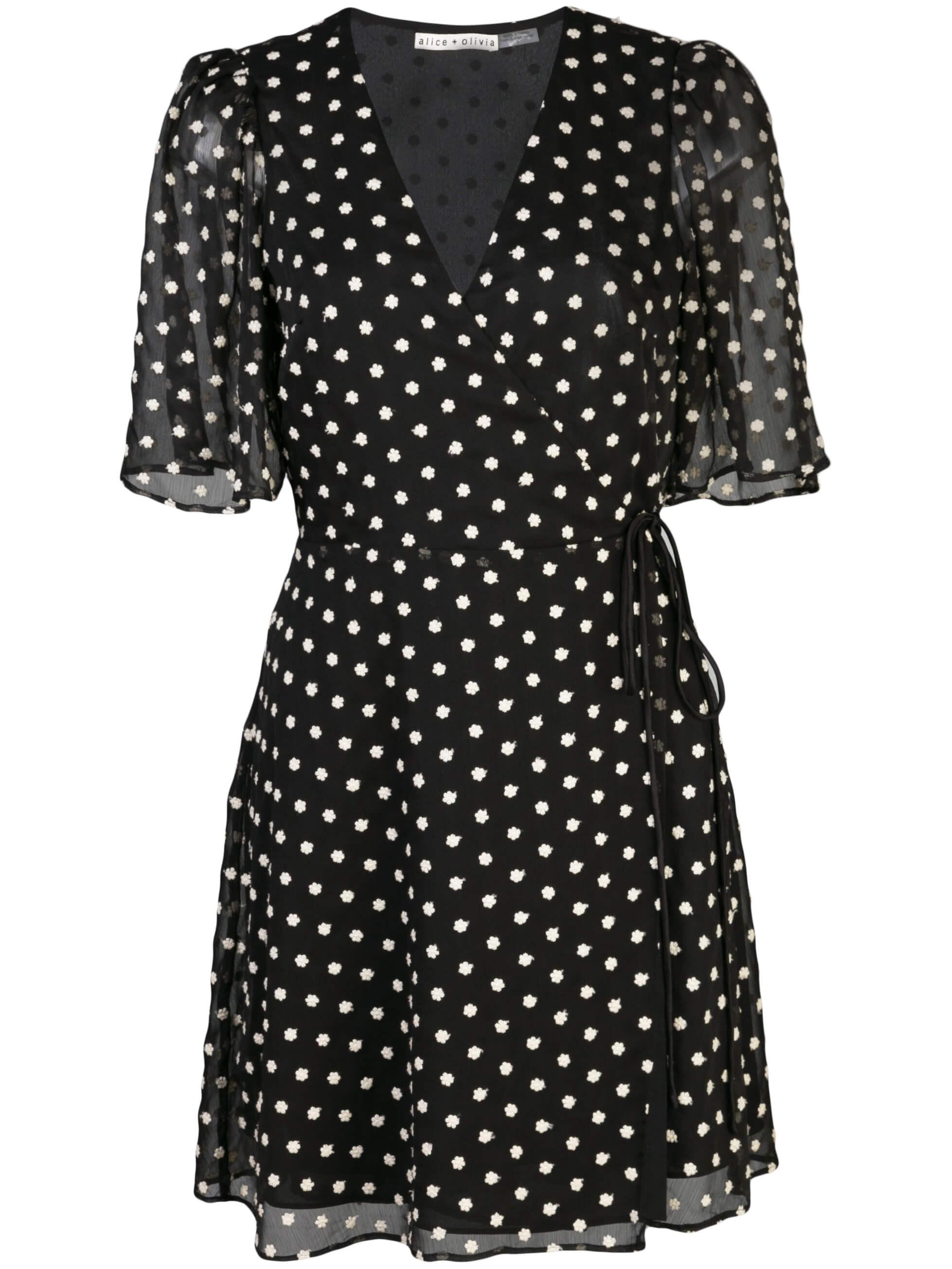 Sandra Angel Sleeve Wrap Dress Item # CC002D08519