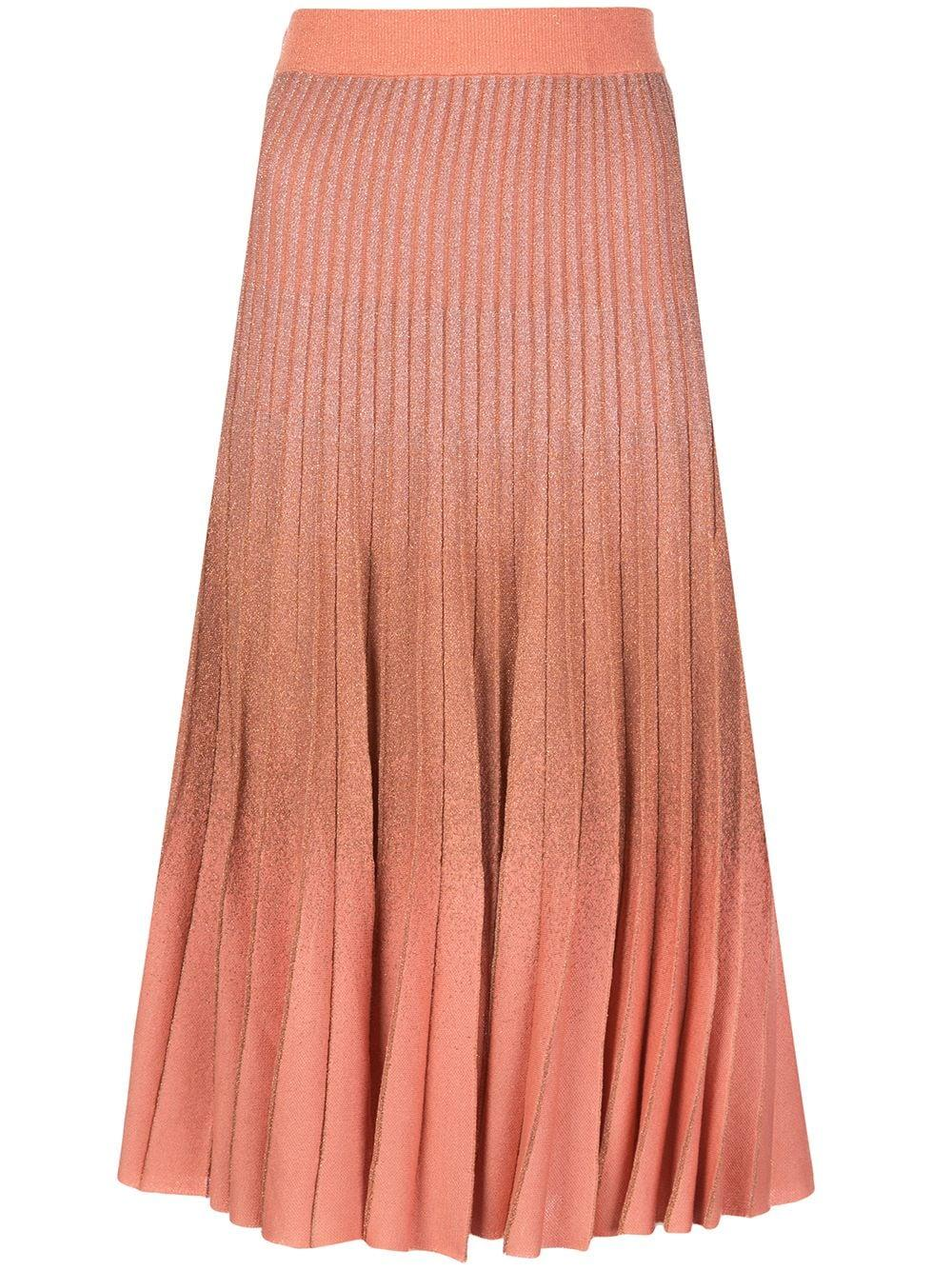 Cyrilla Ombre Pleated Knit Skirt Item # 20809