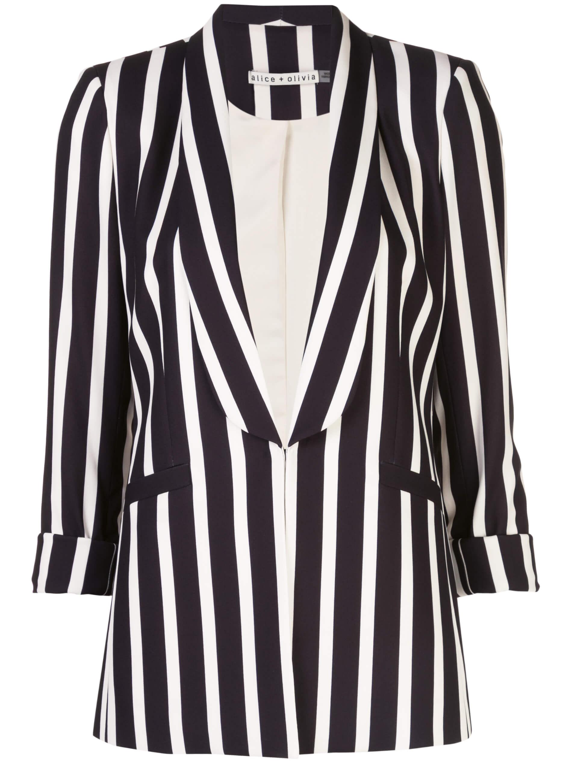 Skye Stripe Boxy Boyfriend Blazer Item # CC002P60208