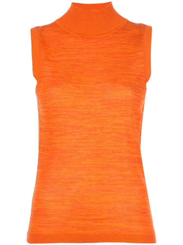Calina Sleeveless Mock Neck Top