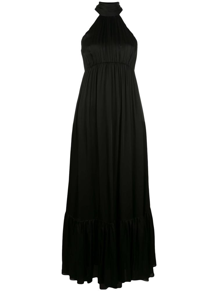 Gathered Bow Tie Maxi Dress