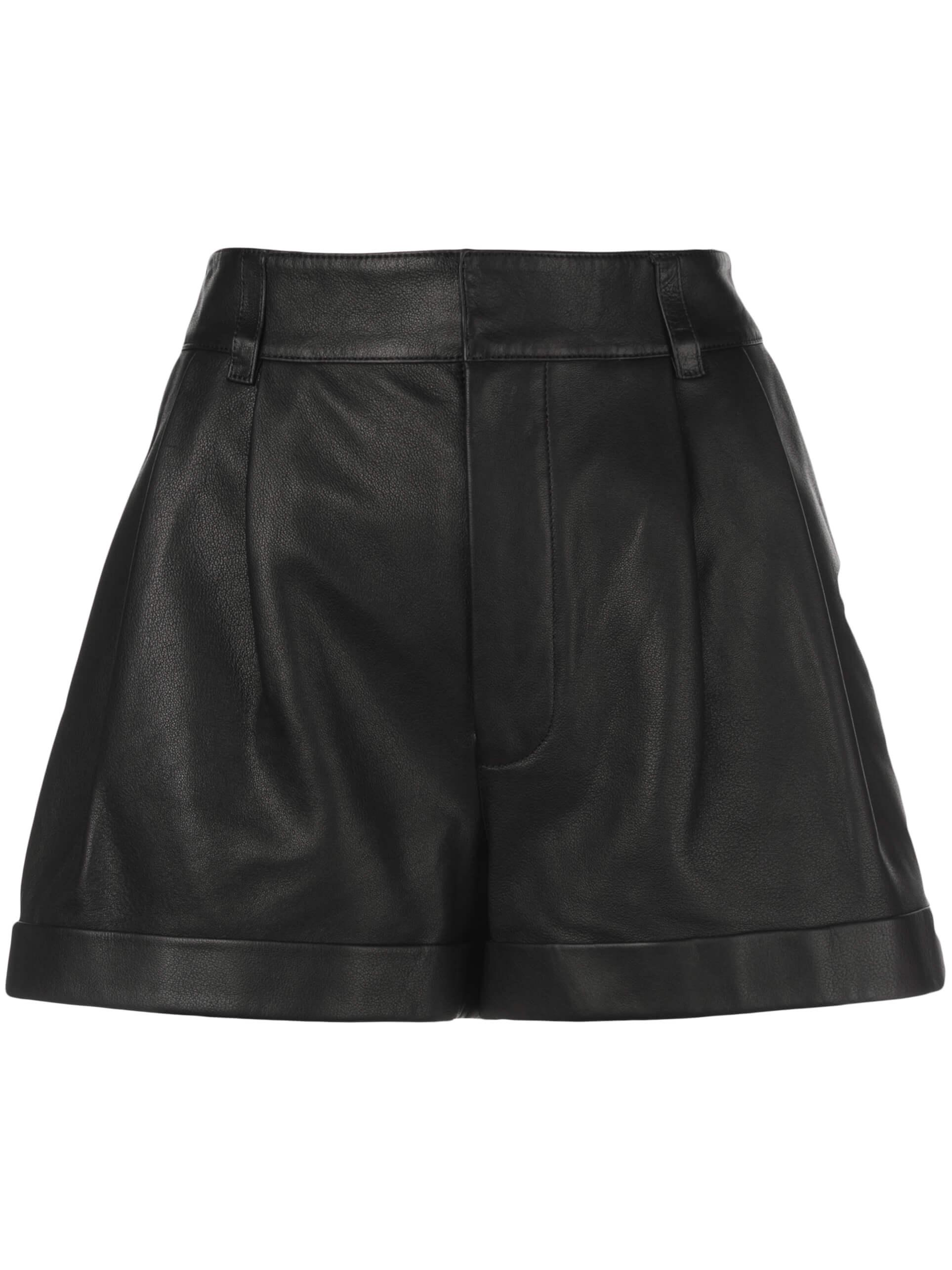 80s Pleated Leather Short Item # 245-9WPS