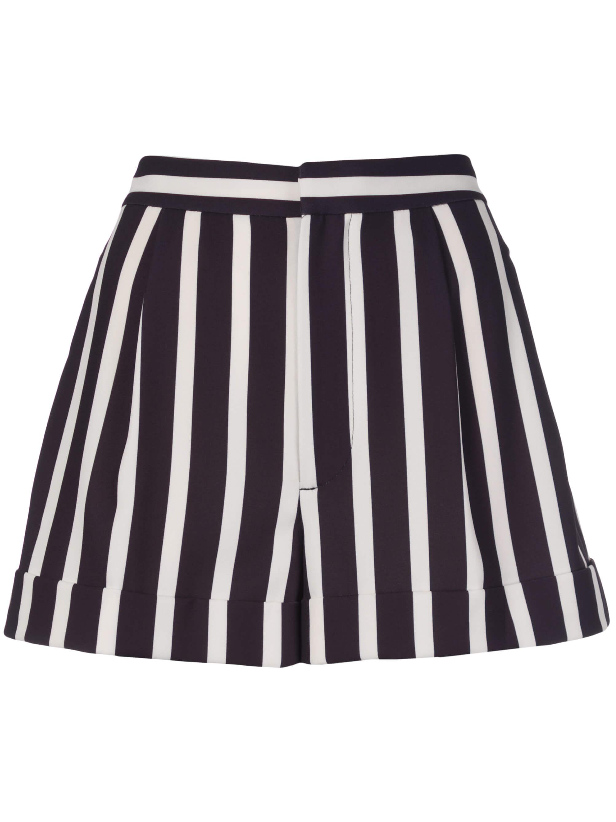 Conry Stripe Pleated Cuff Short