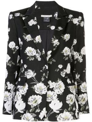 Macey Floral Print Notch Collar Blazer