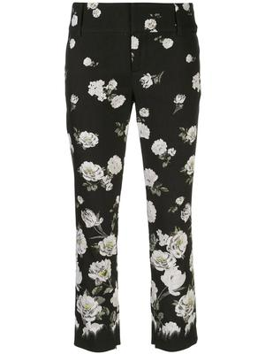 Stacey Floral Print Slim Ankle Pant