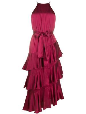 Silk Ruffle Skirt Picnic Dress