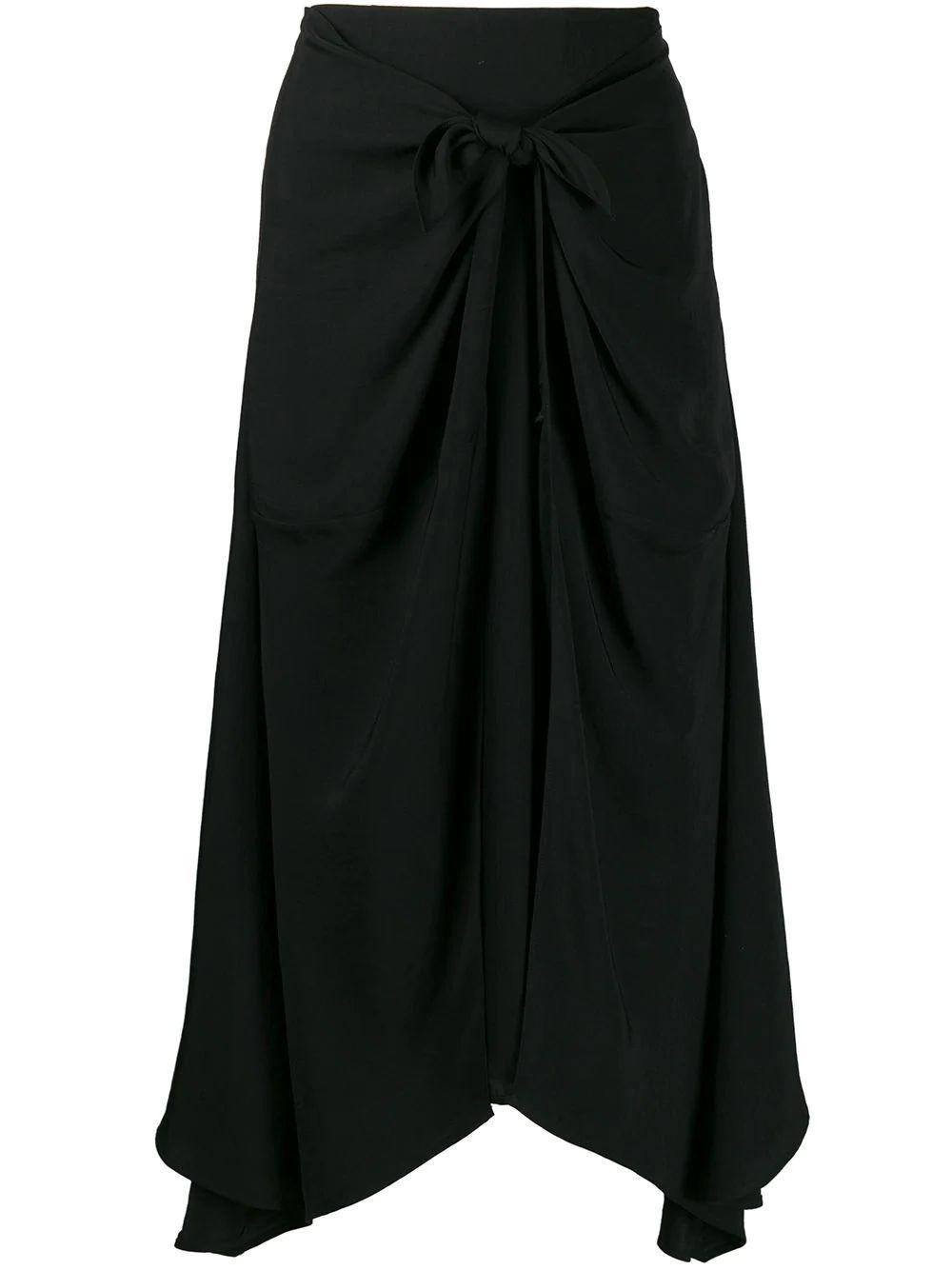 Tie Front Asymmetric Skirt