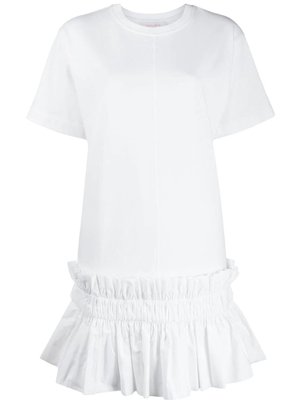 Cotton Embellished Short Sleeve Dress