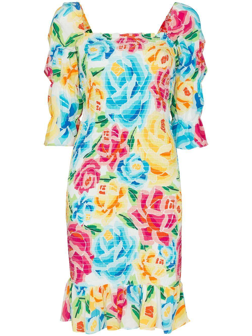 Mariana Floral Printed Dress Item # MAR21G7